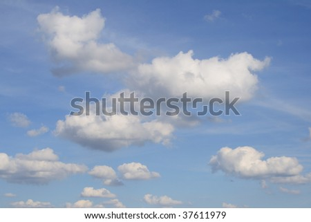 Sky with clouds in summer. - stock photo