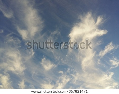 Sky with feather clouds