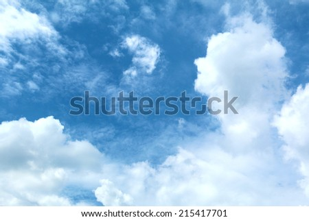 Sky with lot of cloud - stock photo