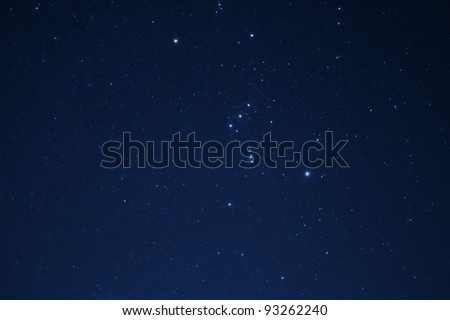 Sky with plenty of stars at night. - stock photo