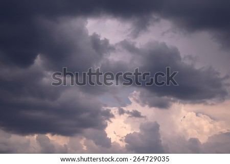 sky with stormy clouds  - stock photo
