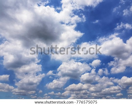 Sky with white clouds , beautiful