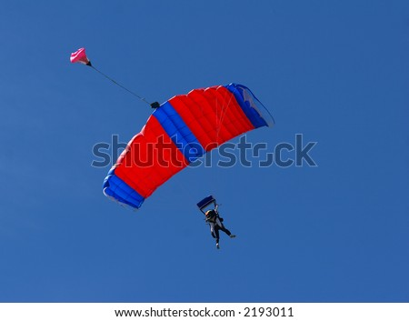 Skydiver riding the wind - stock photo