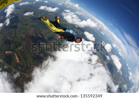 Skydiver wing suit