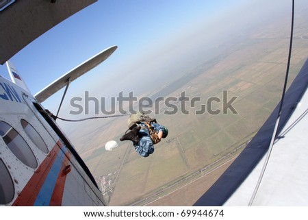 Skydiving photo. Paratrooper.