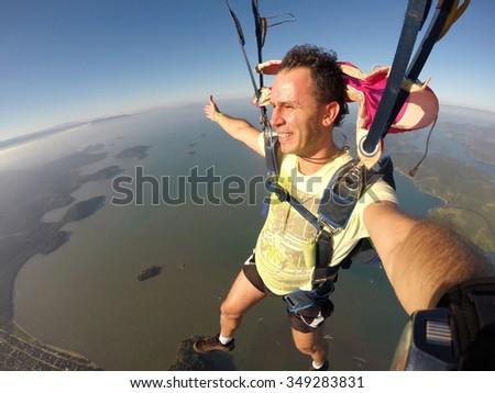 Skydiving Rio de Janeiro Brazil - stock photo