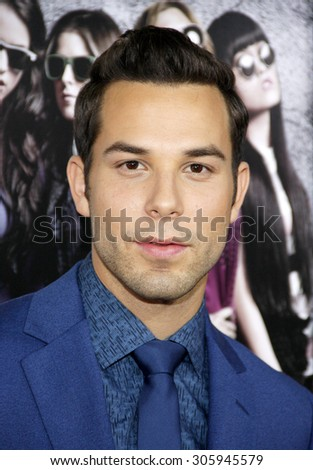Skylar Astin at the Los Angeles premiere of 'Pitch Perfect' held at the ArcLight Cinemas in Hollywood, USA on September 24, 2012.