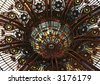 Skylight details in Galleries Lafayette, Paris - stock photo