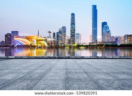 skyline and cityscape of modern city Guangzhou
