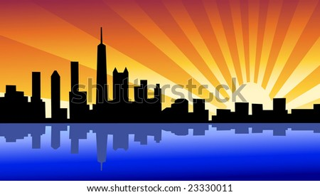 skyline chicago illinois - stock photo