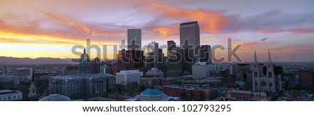 Skyline, Denver, Colorado - stock photo