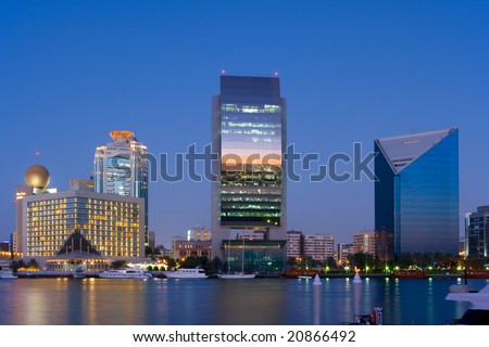Skyline Dubai Creek