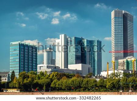 Skyline Frankfurt am Main. Germany - stock photo