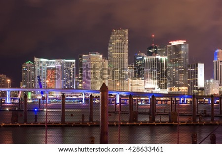 Skyline from Miami as seen from Watson Island