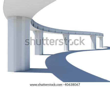 Skyline illustration over white background - stock photo