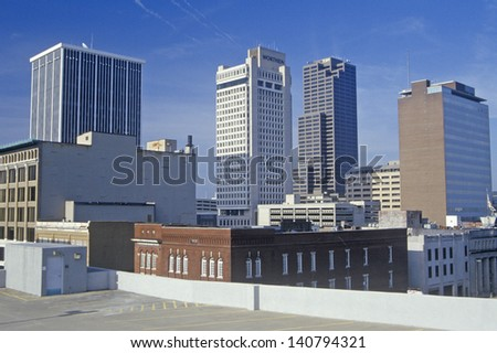Skyline in Little Rock, Arkansas - stock photo