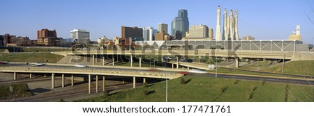 Skyline, Kansas City, Missouri - stock photo