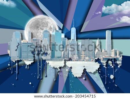 Skyline New York City - stock photo