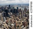 skyline of a big city - stock photo