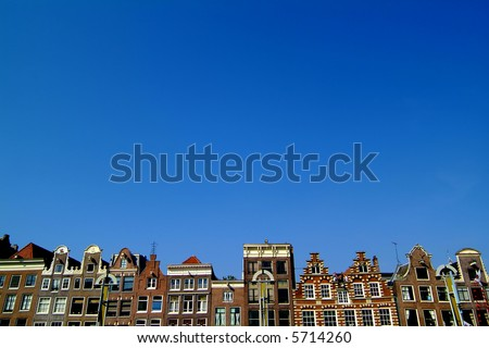 Skyline of Amsterdam - stock photo