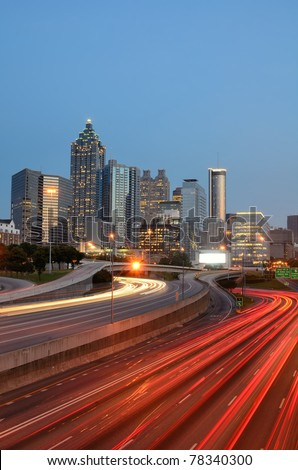skyline of atlanta, georgia - stock photo
