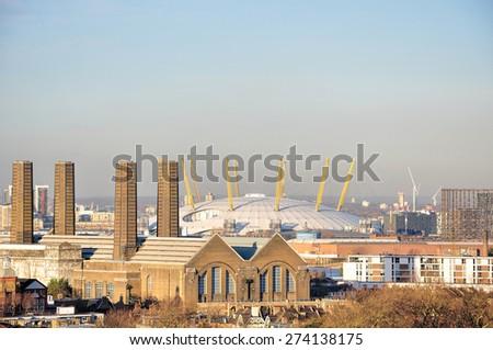 Skyline of City of London - stock photo