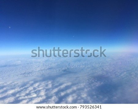 Skyline of clouds