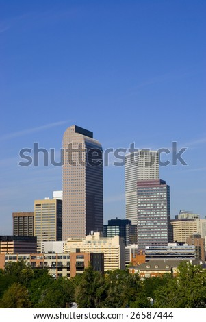 Skyline of Denver, Colorado, United States.