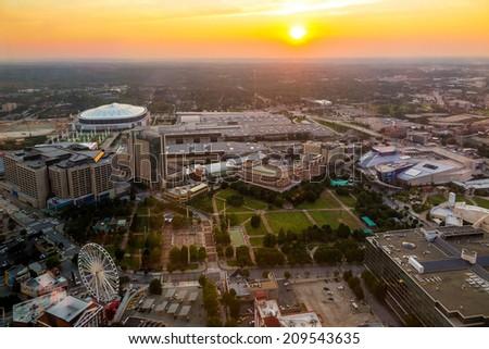 Skyline of downtown Atlanta, Georgia, USA - stock photo