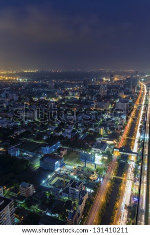 Skyline of downtown Bangkok - stock photo