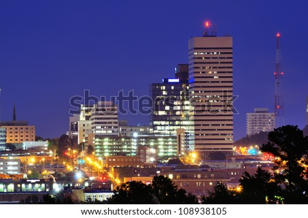 Skyline of downtown Columbia, South Carolina. - stock photo