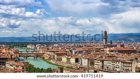 Skyline of Florence, Italy - stock photo