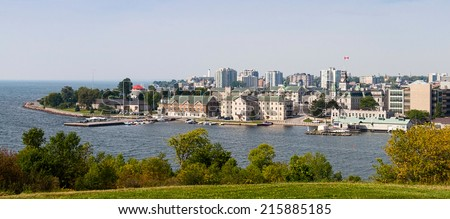 Skyline of Kingston, Ontario - stock photo