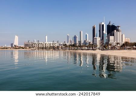 Skyline of Kuwait City, Middle East - stock photo
