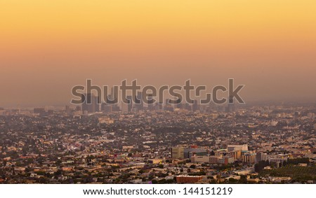 skyline of Los Angeles