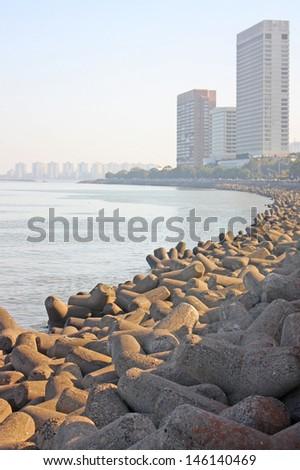 Skyline of Mumbai, India. - stock photo