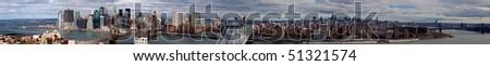 Skyline of New York City - stock photo