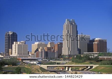 Skyline of Raleigh, NC - stock photo