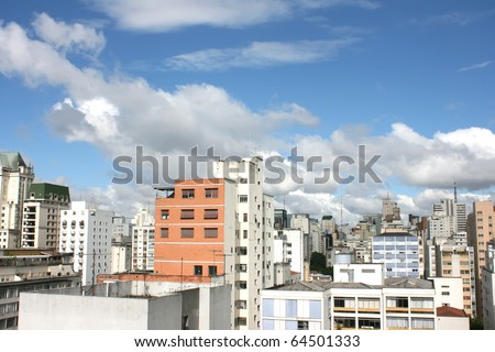 Skyline of Sao Paulo, Brazil. - stock photo