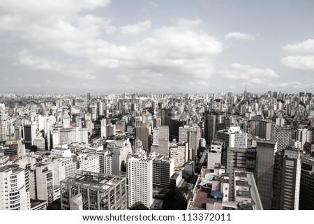 Skyline of Sao Paulo, Brazil, South America. - stock photo