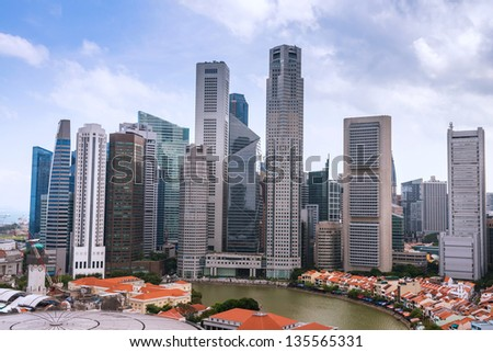 Skyline of Singapore business district, Singapore