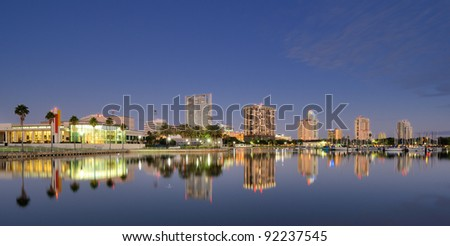 Skyline of St. Petersburg, Florida - stock photo