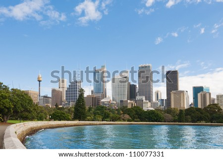 skyline of Sydney with city central business district