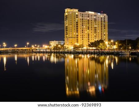 skyline of tampa, florida - stock photo