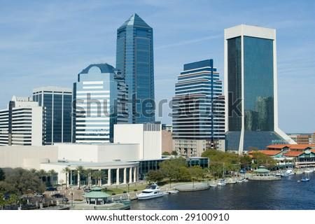 Skyline of the Jacksonville - stock photo
