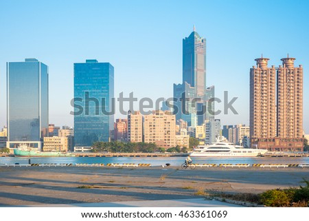 Skyline of The True Love Harbor in Kaohsiung, Taiwan