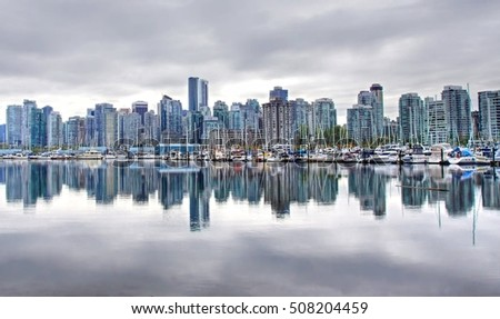 skyline of Vancouver, Canada