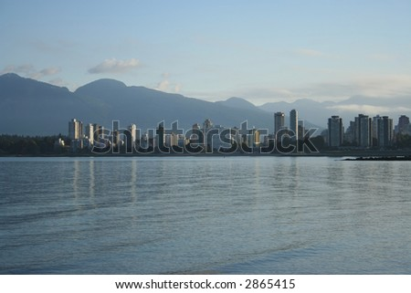 skyline of Vancouver condominiums and mountains