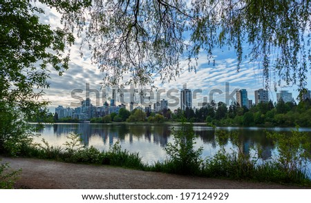 Skyline of Vancouver in the morning  - stock photo