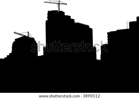 Skyline Silhouette - stock photo